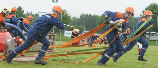 Hohen Viecheln siegt in Wettkampf der Feuerwehren